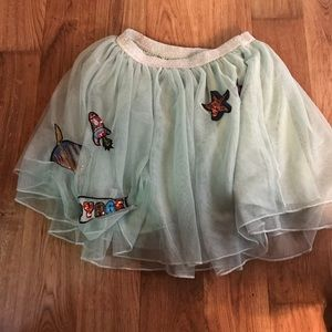 Zara Girls tulle skirt with patches size 11-12